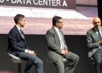 Da sinistra Fabio Biancucci (Architetto Data Center Aruba), Giorgio Girelli (General Manager Aruba Enterprise) e Stefano Sordi (Direttore Commerciale Aruba)