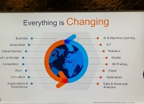 "Cisco Live, Barcellona 2018 - Slide dal titolo ""Everything is Changing"""