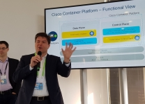 Fabio Gori, Sr. Director, Cloud Solution Marketing di Cisco, sul palco di Cisco Live