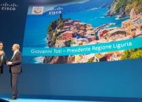 Cisco Partner Experience - Agostino Santoni, Ceo di Cisco Italia e Giovanni Toti, Presidente Regione Liguria