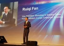 Ruiqi fan, Vice president, marketig & Solution Sales, Huawei Western Europe Enterprise Business al Huawei - WEU Partner Summit 2018, Amsterdam 15-16 Marzo