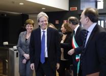 Paolo Gentiloni, Presidente del Consiglio dei ministri della Repubblica Italiana, all'inaugurazione della nuova sede Cefriel in viale Sarca a Milano