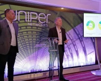 Mike Marcellin Cmo di Juniper Networks e Marcus Jewell, executive VP & chief sales officer di Juniper Networks - Juniper NXTWORK Emea 2019 - Londra, 3-4 dicembre