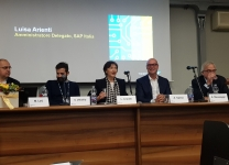 SAP Now 2018 - Matteo Losi, Innovation Director, SAP EMEA South - Vincenzo Vitiello, Co-Founder di Clairy - Luisa Arienti, Amministratore Delegato di SAP Italia - Andrea Sasso, Amministratore Delegato di iGuzzini - Alberto Messaggi, CFO gruppo Feralpi