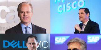 I Ceo di CA Technologies, Cisco, Dell EMC e SAP