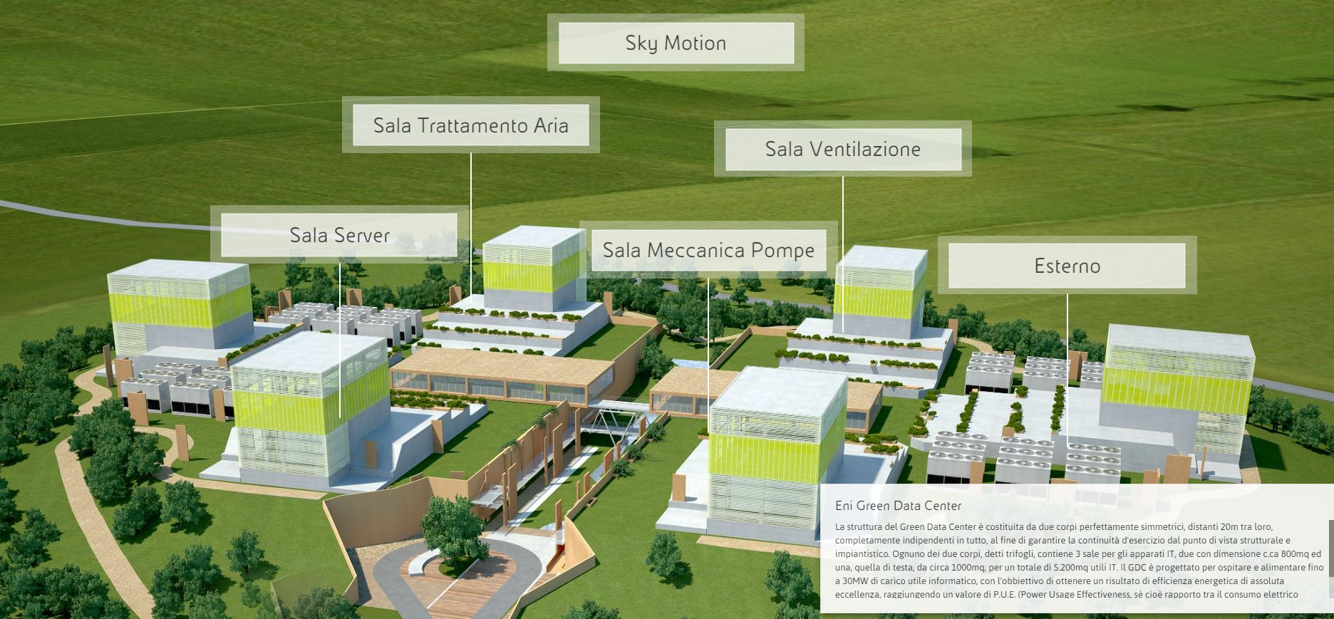 Render Green Data Center di Eni