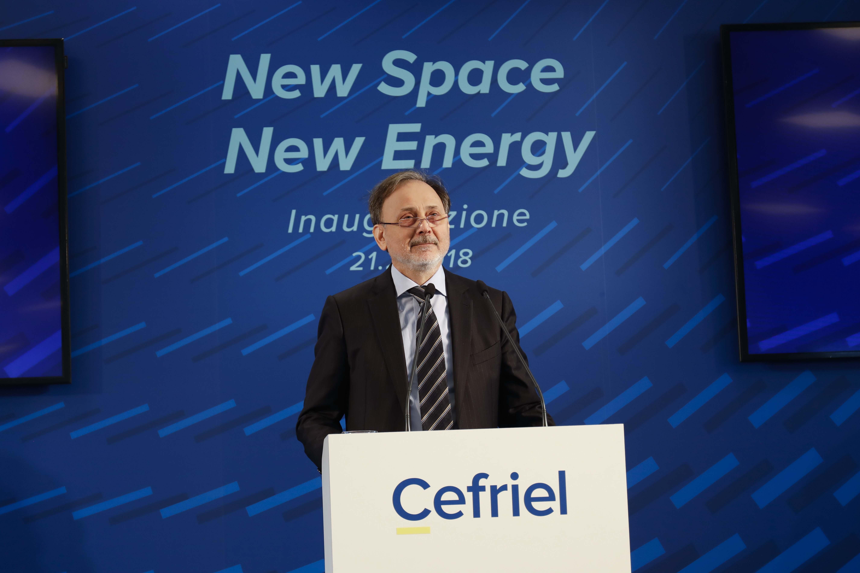 Alfonso Fuggetta, CEO di Cefriel, all'inaugurazione della nuova sede Cefriel in viale Sarca a Milano