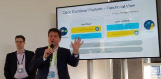 Fabio Gori, Sr. Director, Cloud Solution Marketing di Cisco, sul palco di Cisco Live