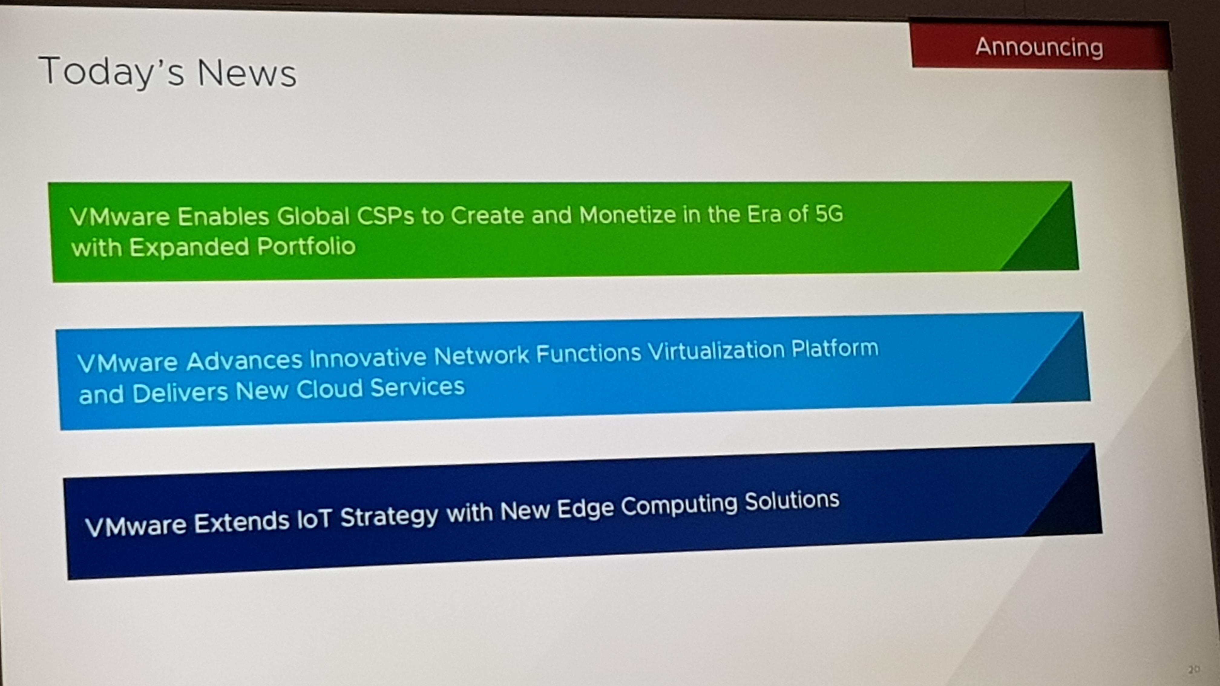Slide di presentazone Vmware