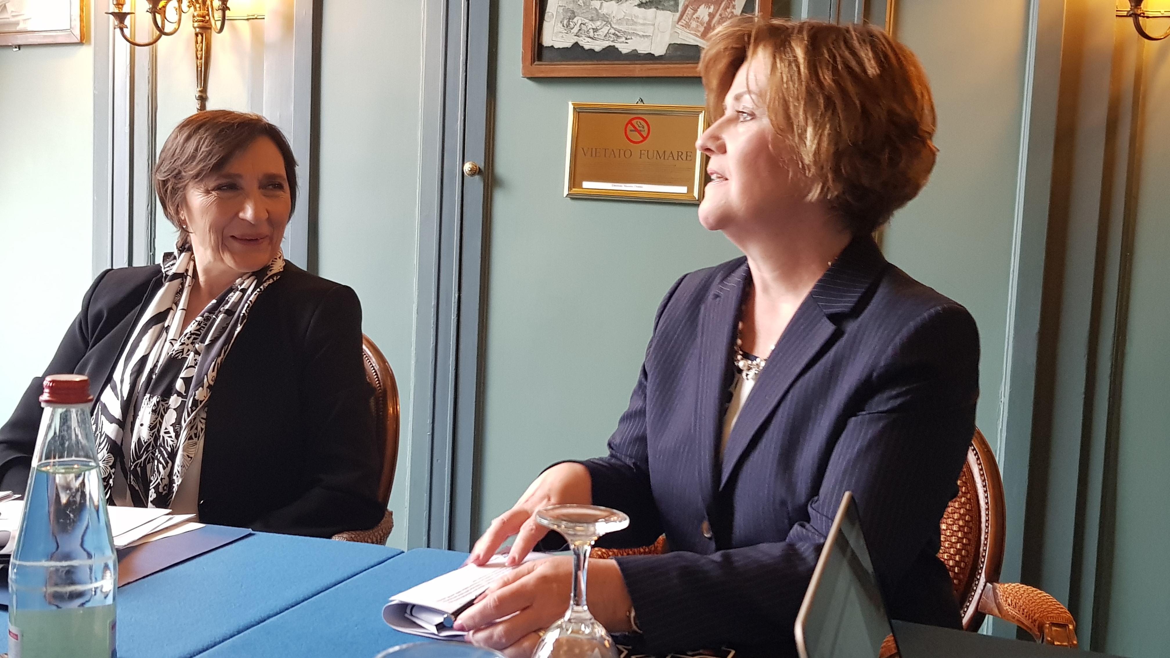 Luisa Arienti, Amministratore Delegato di SAP Italia e Adaire Fox-Martin, executive board member di SAP South Europe