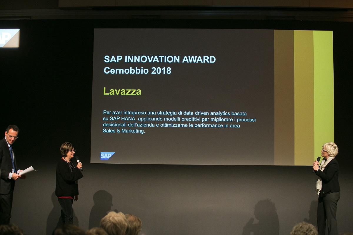 Patrizia Tedesco, group Cio di Lavazza, ririta il premio Lavazza Innovation Award
