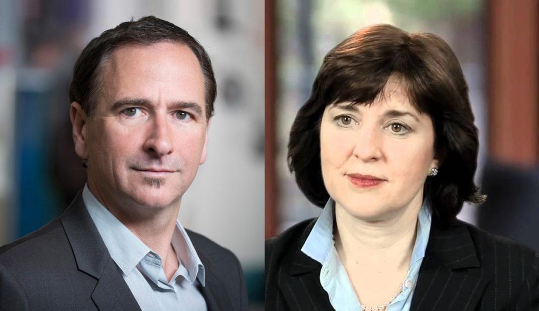 Joe Burton, Presidente e Amministratore Delegato di Plantronics e Mary T. McDowell, Chief Executive Officer di Polycom