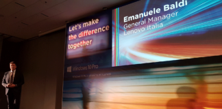 Kick-off Lenovo 2018 - Emanuele Baldi, General Manager di Lenovo Italia