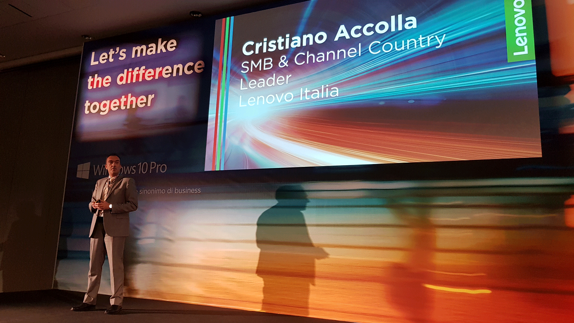 Kick-off Lenovo 2018 - Cristiano Accolla, SMB & Channel Country Leader di Lenovo Italia