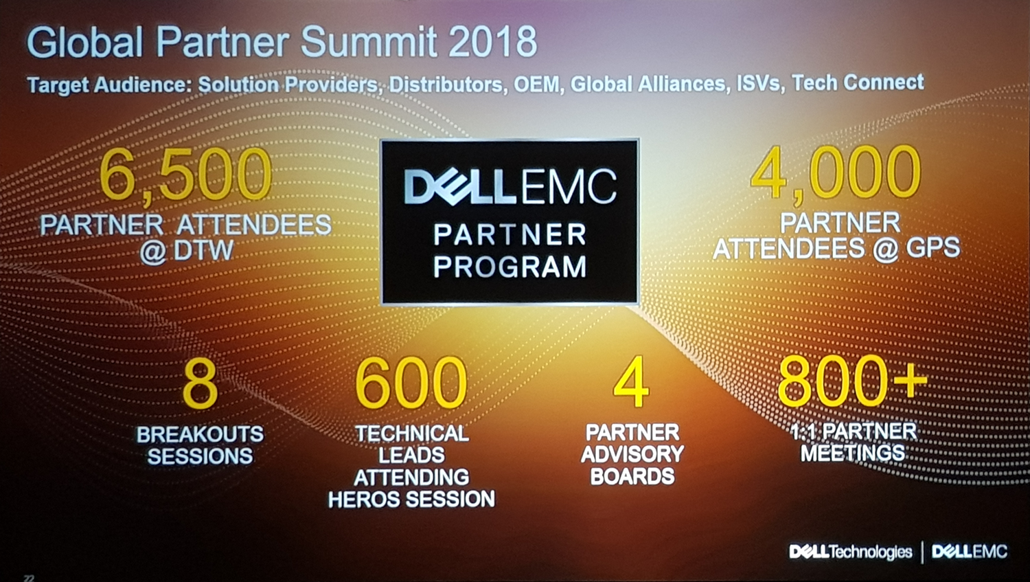 Global Partner Summit 2018 - Dell Technologies World 2018 a Las Vegas
