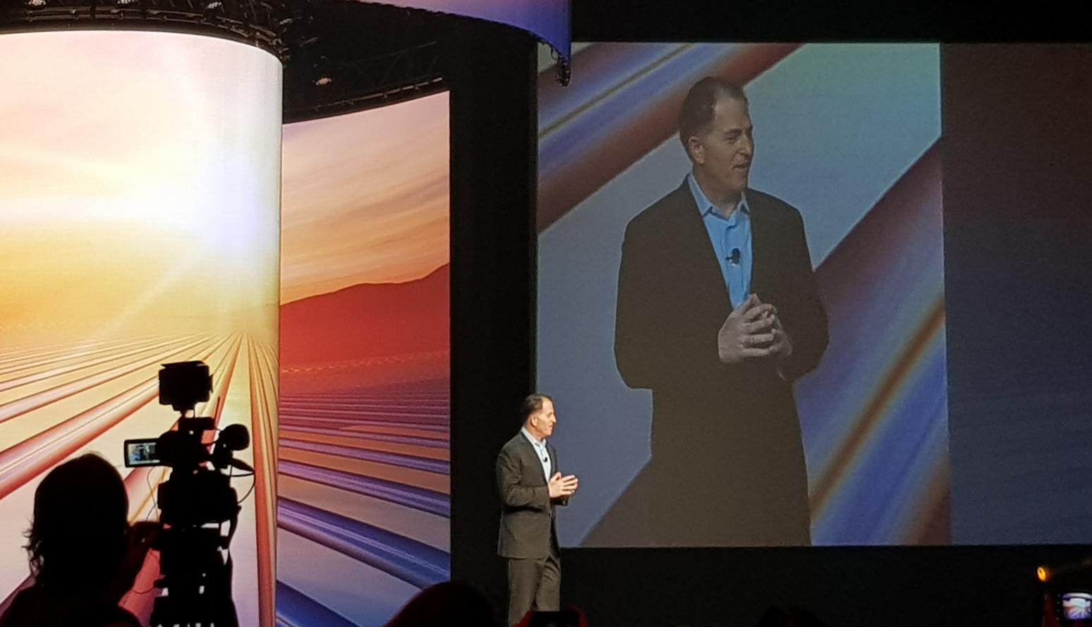 Michael Dell, ceo di Dell Technologies, apre il Dell Technologies World 2018 a Las Vegas
