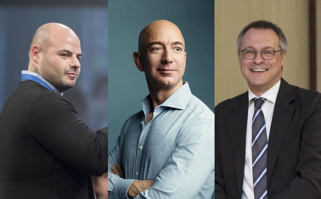 Luigi Celeste, Jeff Bezos, presidente e amministratore delegato di Amazon e Carlo Bonomi, presidente di Assolombarda
