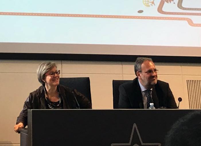 Annamaria Di Ruscio, Amministratore Delegato di NetConsulting cube e Luigi Terzi, Presidente di Assologistica Cultura e Formazione