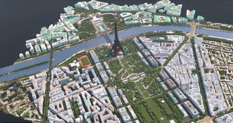 Città di Parigi e Tour Eiffel - Progetto in 3D di Autodesk