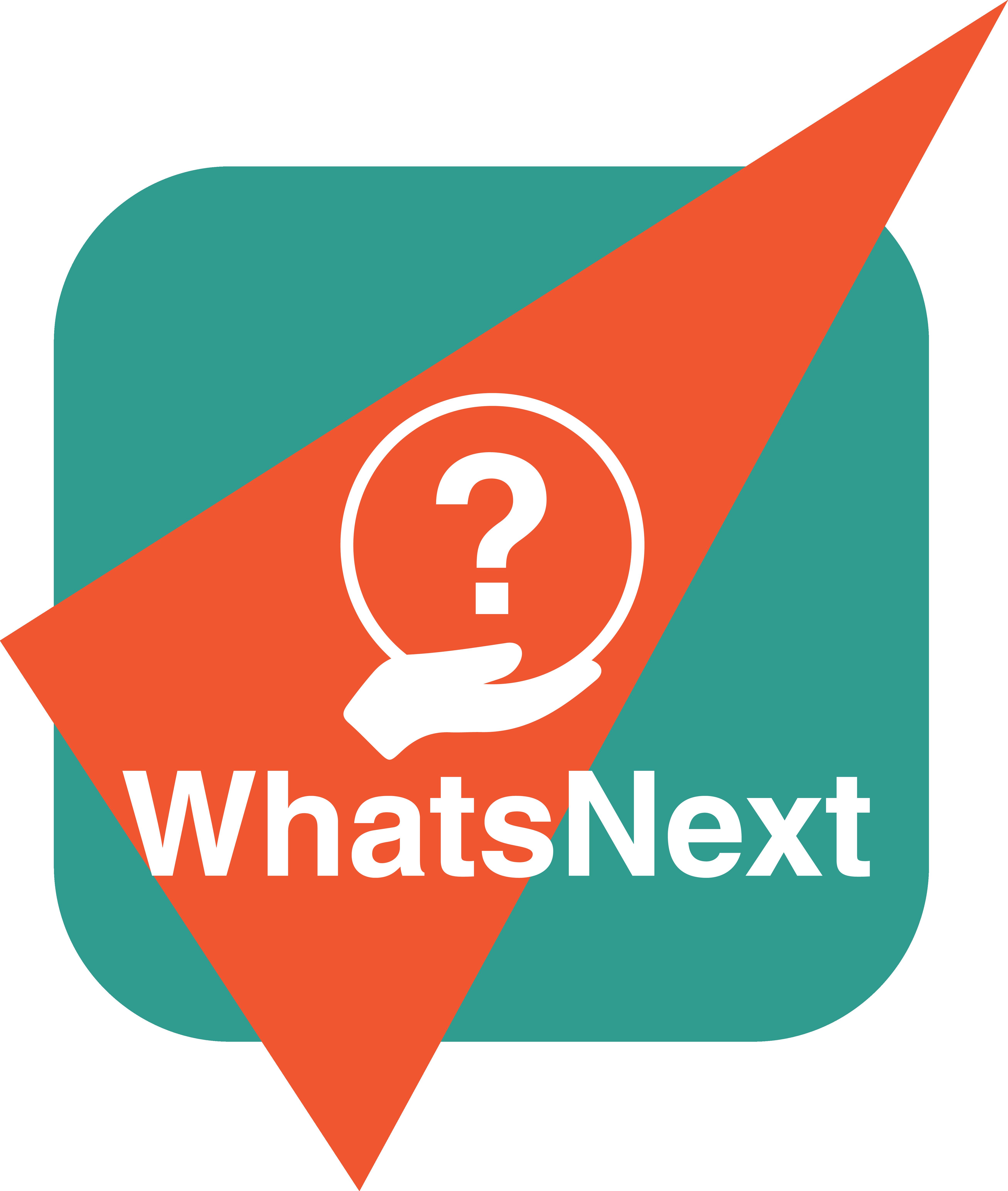 Il Logo della nuova rubrica WhatsNext