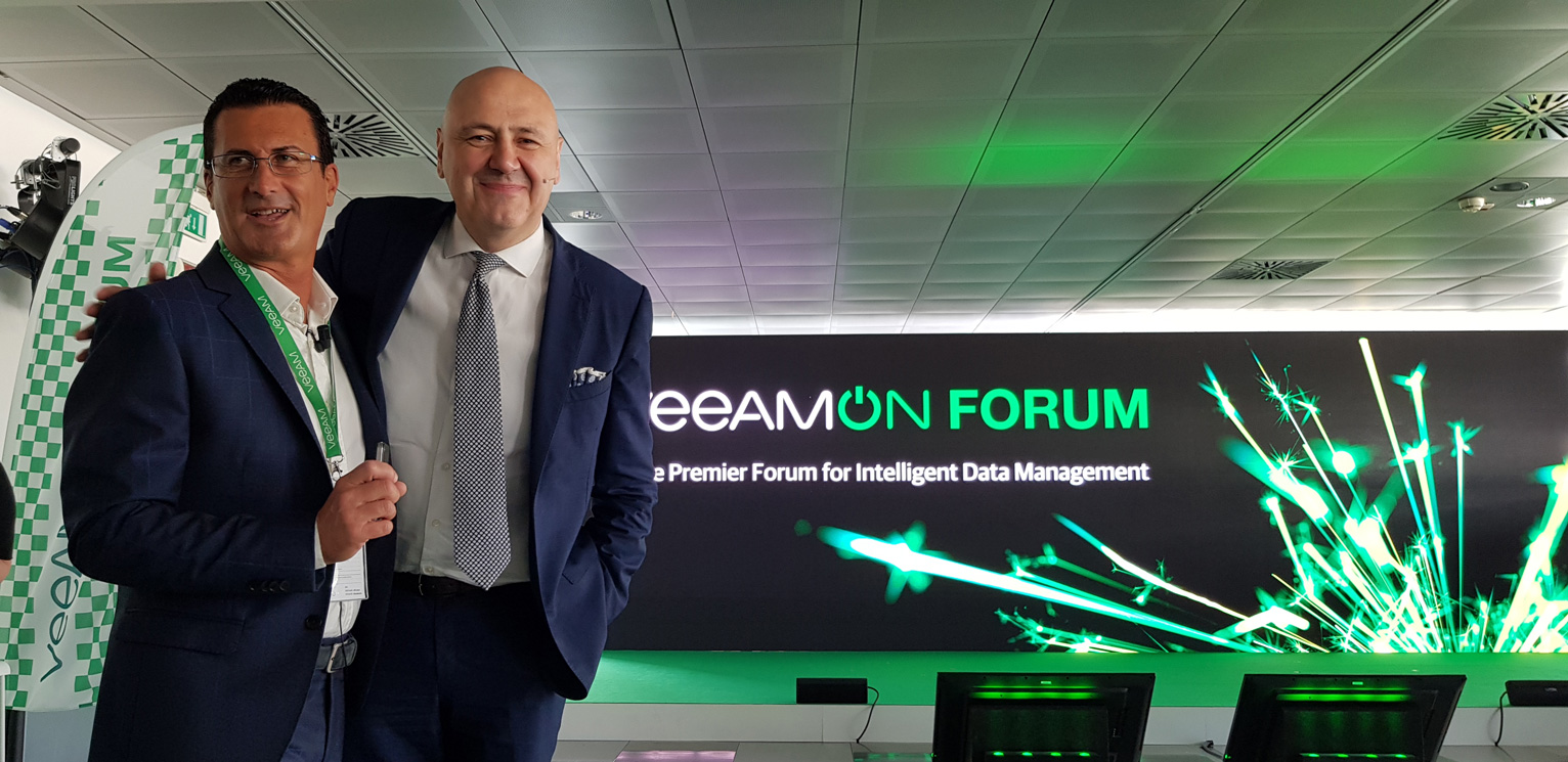 VeeamOnForum 2018 - Albert Zammar, VP Semea Veeam e Carlo Alberto Carnevale Maffè, Associate Professore SDA Bocconi School of Management