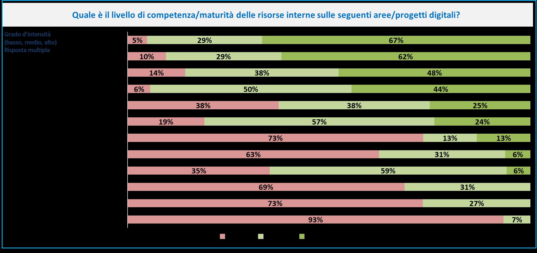 CIO Survey - Maturità risorse Manufacturing