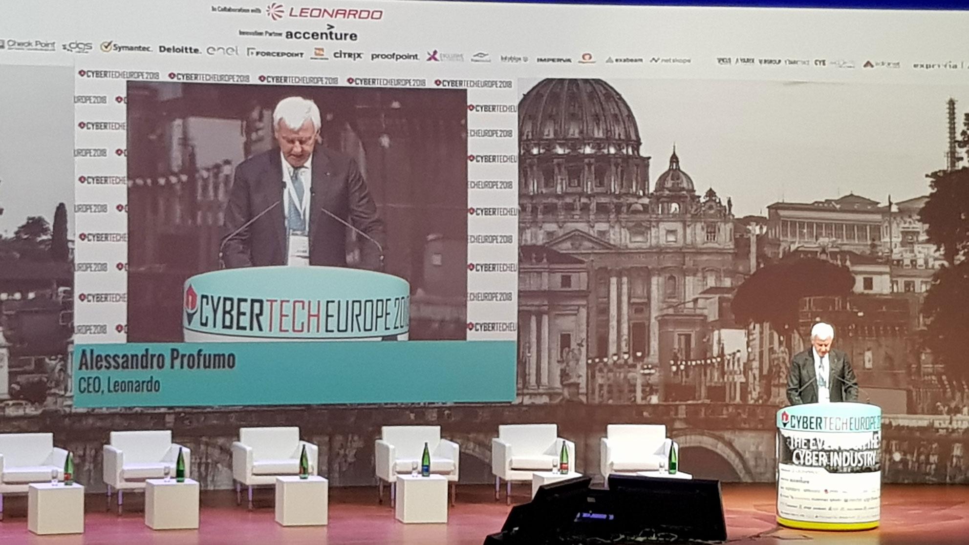 Cybertech Europe 2018 - Alessandro Profumo, Ceo di Leonardo