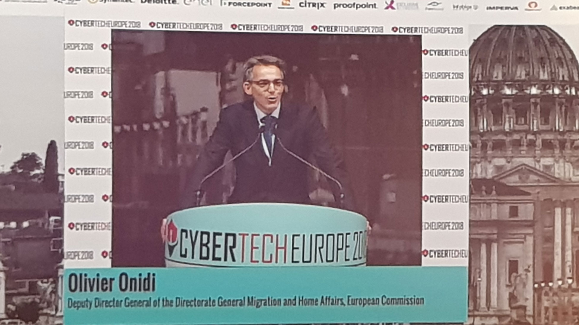 Cybertech Europe 2018 - Olivier Onidi, Deputy Director General of the Directorate General Migration and Home Affairs, European Commission