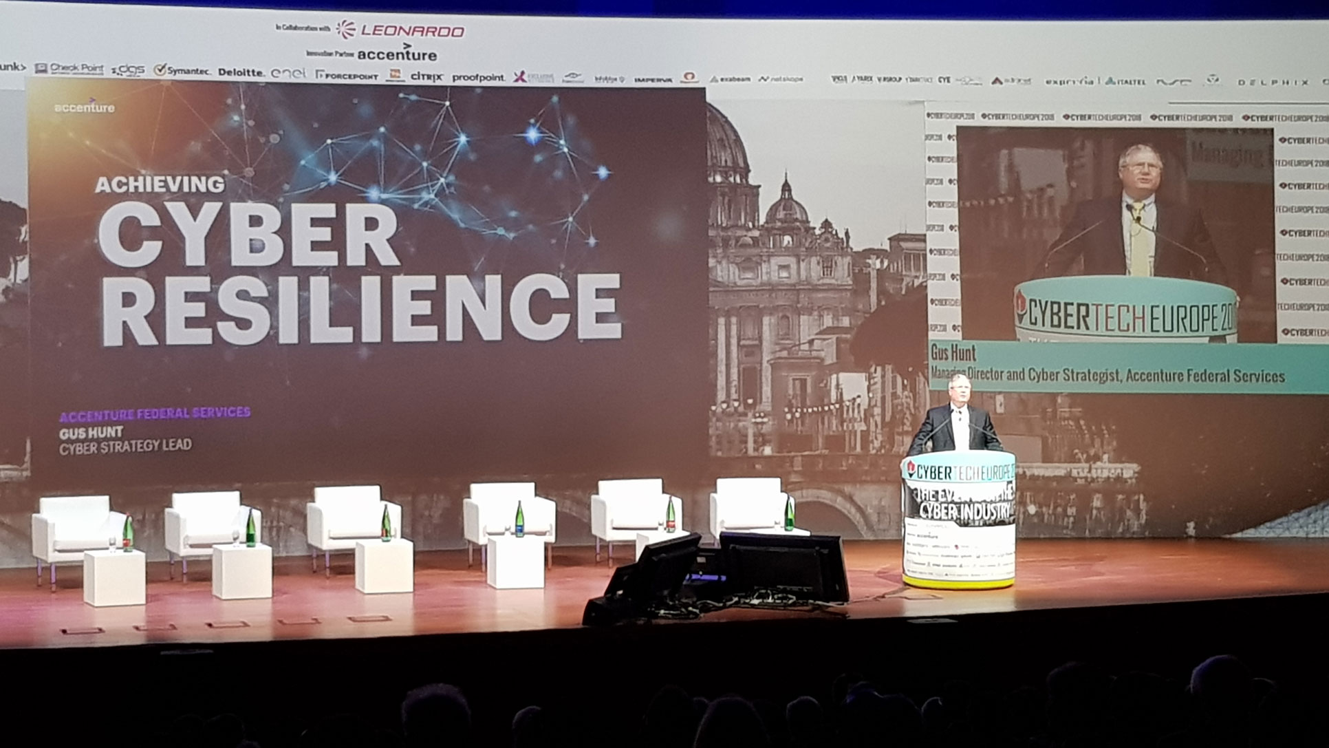 Cybertech Europe 2018 - Gus Hunt, Cyber Strategy Lead, Accenture Federal Services