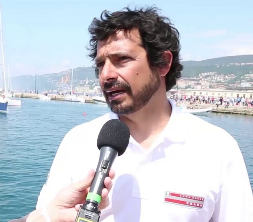 Francesco Mongelli, navigatore del Team Luna Rossa Challenge