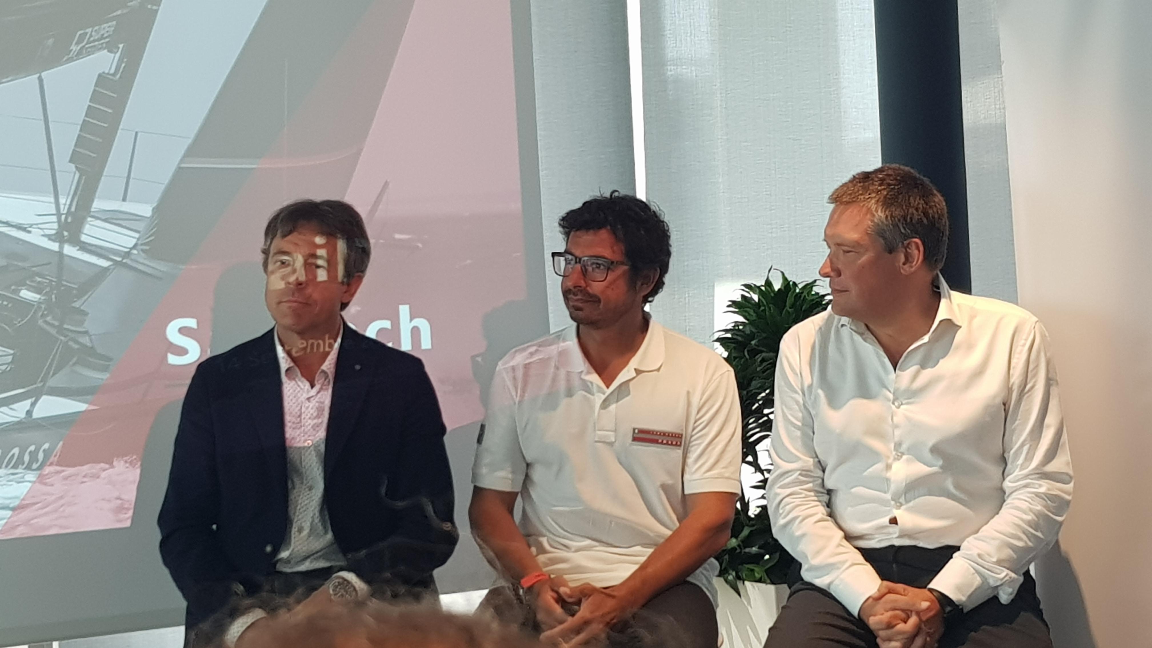 Guido Barbazza, presidente e amministratre delegato di Wartsila - Francesco Mongelli, navigatore Team Luna Rossa - Michele Balbi, presidente di Teorema