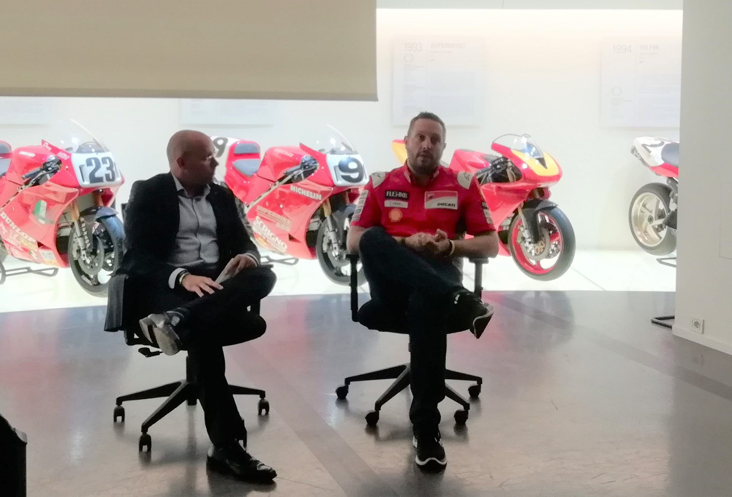 Stefano Rendina, IT Manager, Ducati Corse intervistato da Denis Nalon, Marketing Manager, NetApp