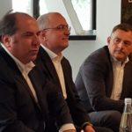Alessandro de Bartolo, Country General Manager di Lenovo Data Center Group per l'Italia - Matteo Losi, Innovation Director, SAP EMEA South - Vincenzo De Lisi, Chief Information Officer di Sirti