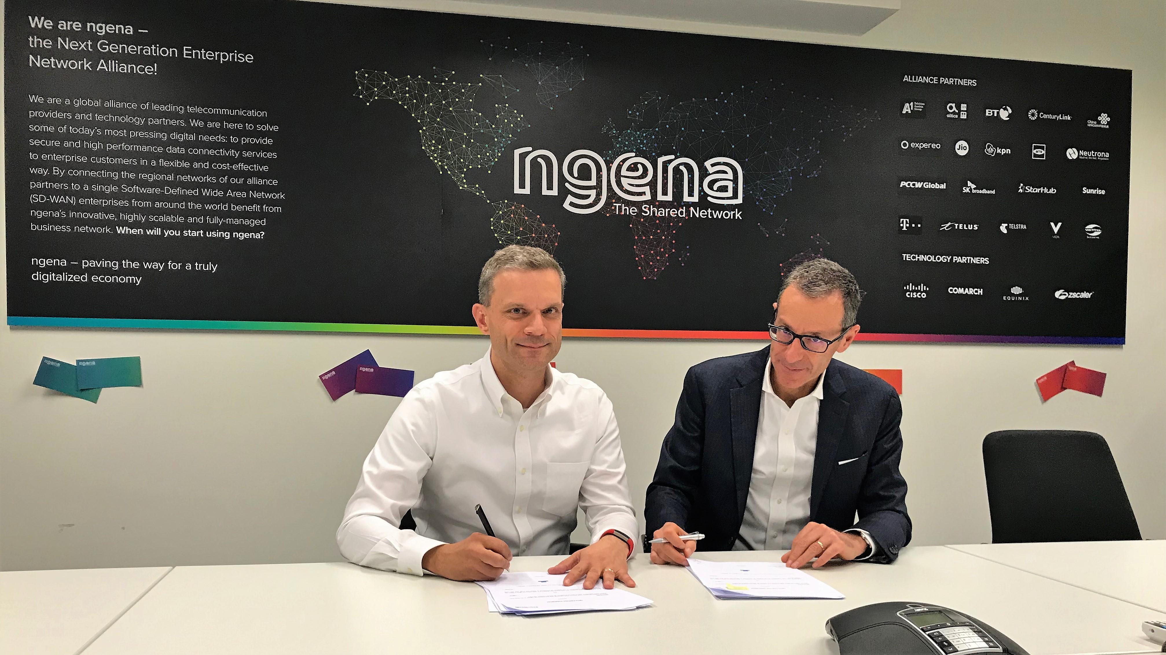 Alessandro Adriani, Managing Director di NGENA e Federico Protto, Amministratore Delegato di Retelit