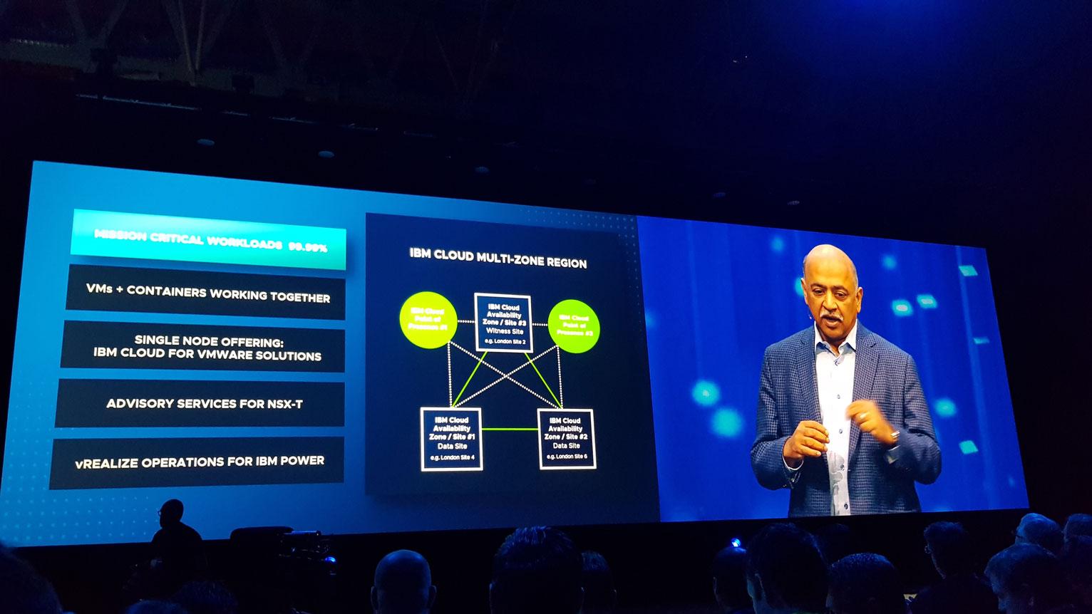 VMworld 2018 - Arvind Krishna, SVP, Hybrid Cloud & Director of Research di IBM