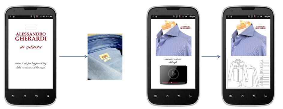 Accesso ai dati e agli ordini del cliente tramite l'applicazione su smartphone
