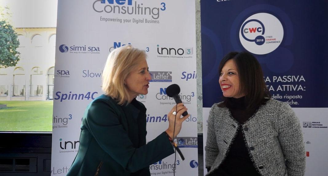 Emanuela teruzzi, Direttore Responsabile di Inno3 intervista Rossella Macinante, Analista di NetConsulting cube alla Cyber Warfare Conference 2018