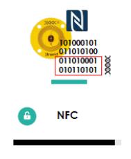 tag NFC 1Trueid contenente il DNA digitale