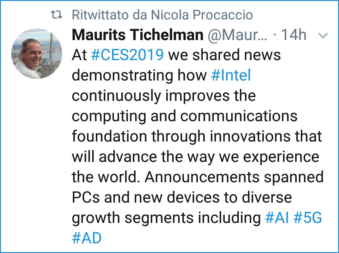 Twit di Maurits Tichelman ritwittato da Nicola Procaccio