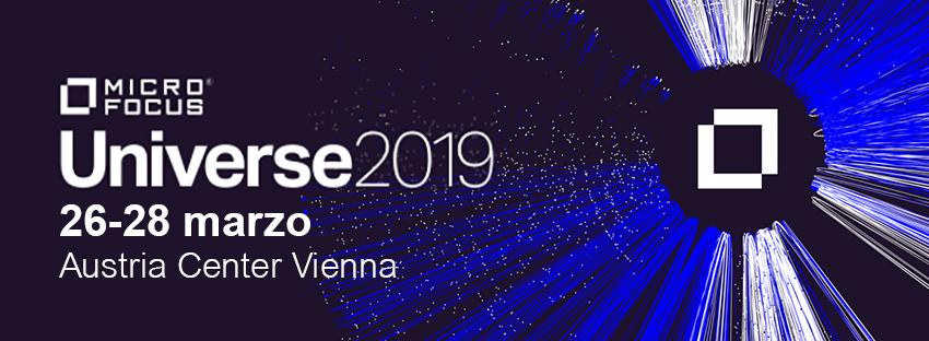 Registrati all'evento Micro Focus Universe 2019