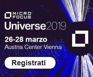 iscriviti al Micro Focus Universe 2019
