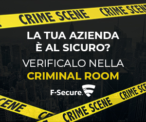 Scopri la Criminal Room by F-Secure