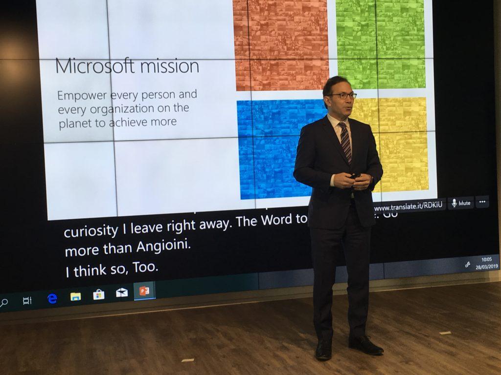 Vahè Torossian, corporate vice president western europe di Microsoft