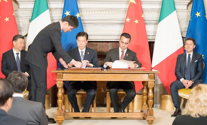 Tre memorandum di intesa tra governo italiano e cinese