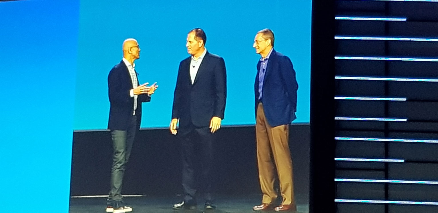 Dell Technologies World 2019, Las Vegas - Satya Nadella, Ceo Microsoft - Michael Dell, chairman & Ceo Dell Technologies - Pat Gelsinger, Ceo VMware
