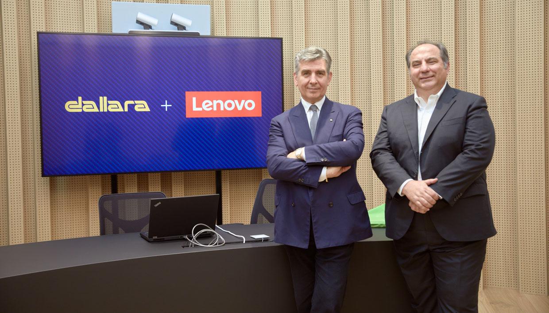 Andrea Pontremoli, CEO & general manager Dallara - Alessandro de Bartolo, GM Data Center Group Lenovo Italia