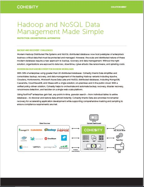 Hadoop and NoSQL Data Management Made Simple