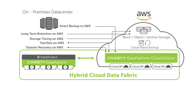 Cohesity e l'integrazione con il cloud Amazon Web Services (Aws)
