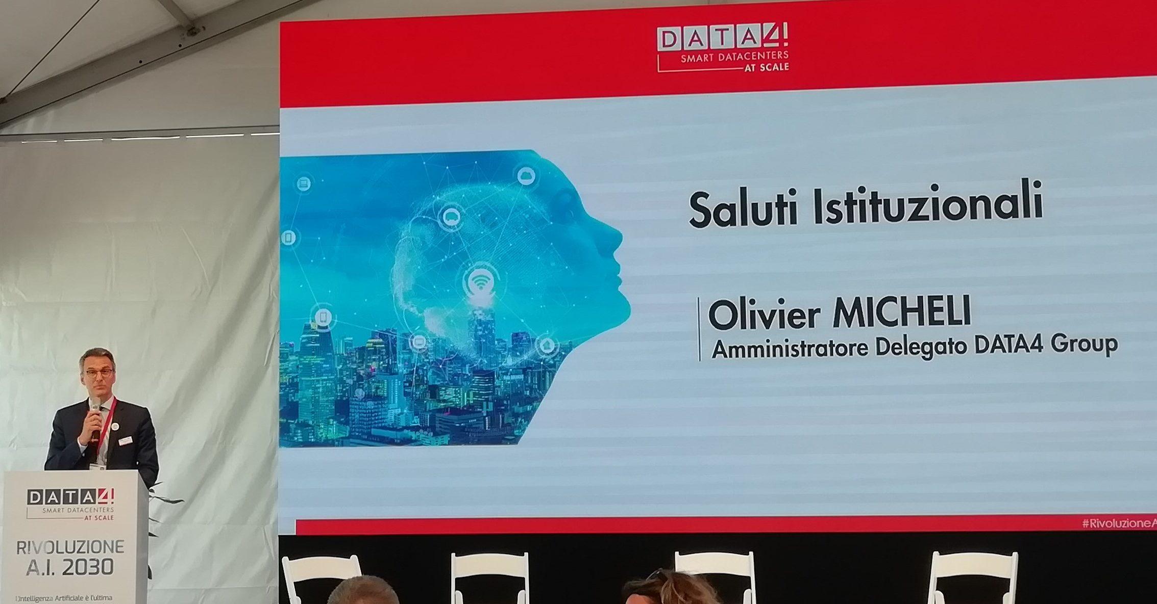 Olivier Micheli, amministratore delegato gruppo DATA4
