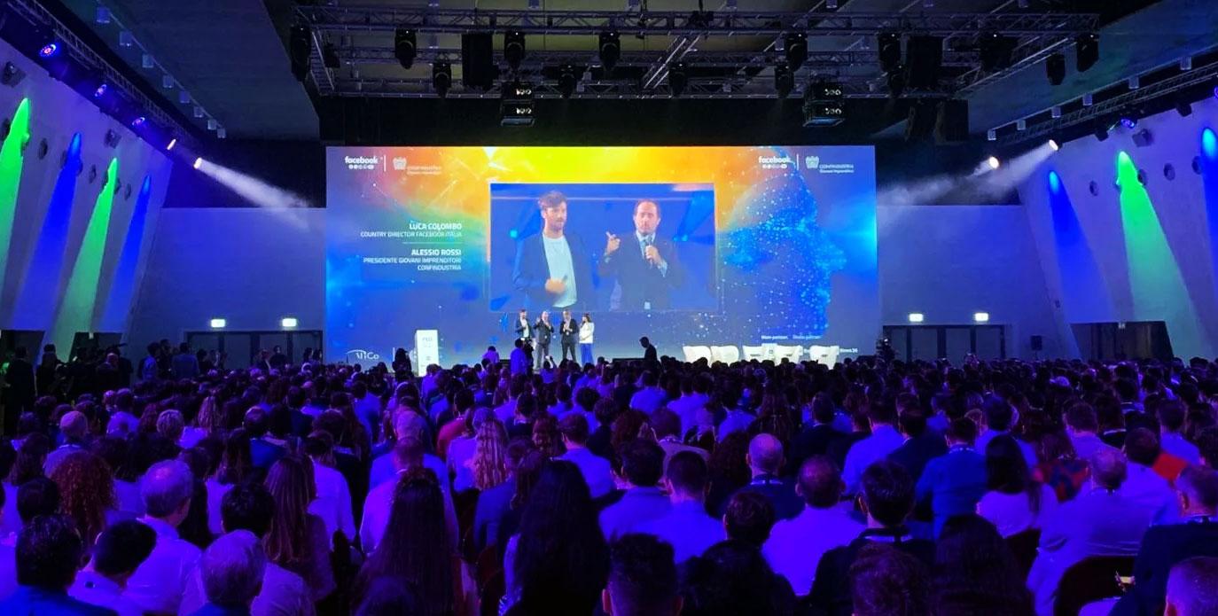 FED 2019 - Luca Colombo, country director di Facebook Italia & Alessio Rossi, presidente Giovani Imprenditori Confindustria